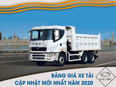 Bảng Giá Xe Tải CAMC Tháng 12/2020 Mới Nhất Nhiều Ưu Đãi Hấp Dẫn