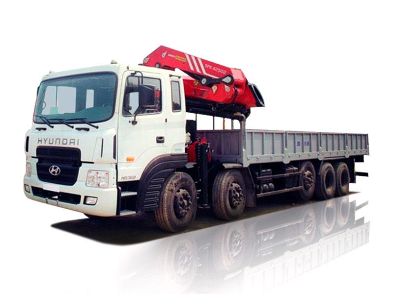Xe tải chenglong gắn cẩu Palfinger