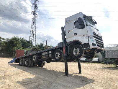 Xe Chenglong Nâng đầu Chở Máy Công Trình Sàn 9m 10x4 H7 5 Chân 112