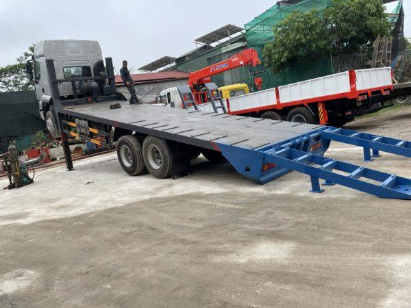 Xe Chenglong 6x4 2 Cầu Nâng đầu Chở Máy Và Thiết Bị Công Trình 1