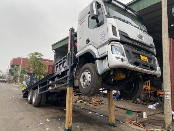 Xe Chenglong 6x4 2 Cầu Nâng đầu Chở Máy Và Thiết Bị Công Trình 10
