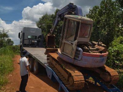 Xe Chenglong 6x4 2 Cầu Nâng đầu Chở Máy Và Thiết Bị Công Trình 5